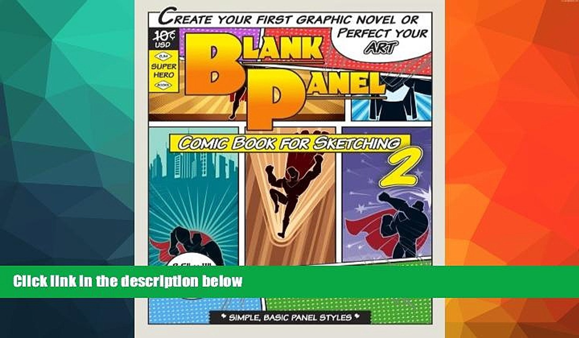 Pre Order Blank Panel Comic Book for Sketching 2: Basic Panels, 8.5