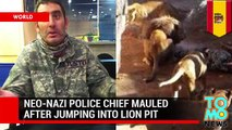 Neo-nazi mauled by lions  photos show racist, former police chief attacked by Barcelona Zoo's lions
