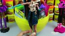 Huevo Sorpresa Gigante de Nefera de Nile de Monster High en Español de Plastilina Play Doh
