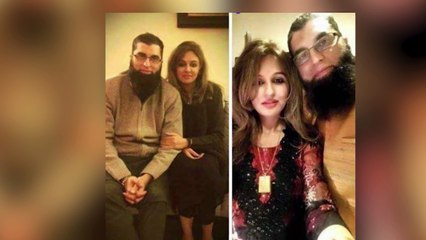 Junaid Jamshed WITH WIFE