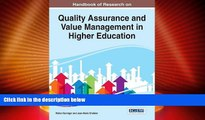 Best Price Handbook of Research on Quality Assurance and Value Management in Higher Education