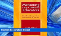Audiobook Mentoring Early Childhood Educators: A Handbook for Supervisors, Administrators, and