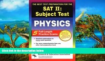 Buy D. K. Bross SAT II: Physics (REA) - The Best Test Prep for the SAT II (SAT PSAT ACT (College