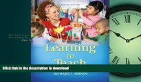 Free [PDF] Learning to Teach, 9th Edition