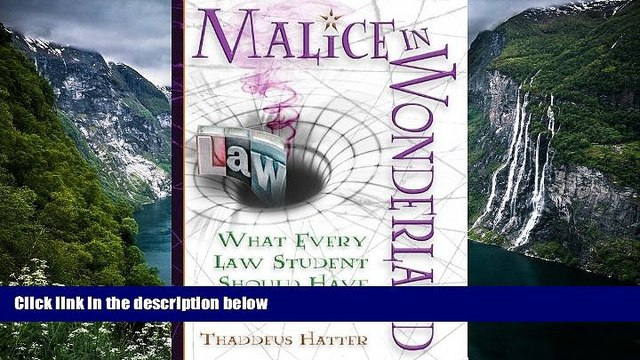 Buy Thaddeus Hatter Malice in Wonderland: What Every Law Student Should Have for the Trip