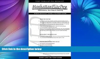 Buy Manhattan Elite prep Manhattan Elite Prep Erasable GMAT Booklet with Pen (Manhattan Review)