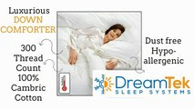 Down Comforter DreamTek Luxurious Down Comforter with Smart Snap System for all Season Versatility