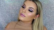 Purple Iridescent Cut Crease Makeup Tutorial GRWM