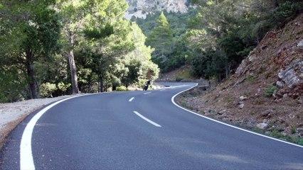 Premiers tours de roues de la MT-09 sur les routes des Baléares