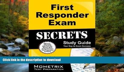 READ First Responder Exam Secrets Study Guide: FR Test Review for the First Responder Exam On Book
