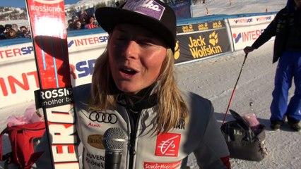 Interview de Tessa Worley victorieuse en Géant à Sestrières
