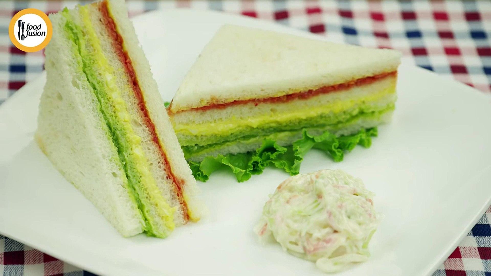 Rainbow Sandwich recipe by Food Fusion