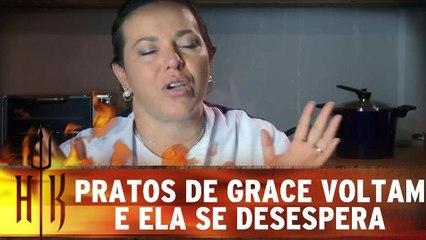 Pratos de Grace voltam e ela se desespera