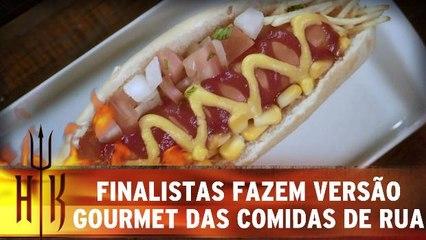 Finalistas fazem versão contemporânea das comidas de rua