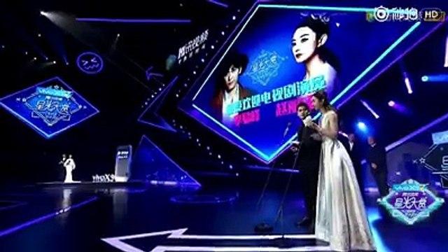 Triệu Lệ Dĩnh phát biểu khi nhận giải Nữ diễn viên truyền hình được yêu thích nhất