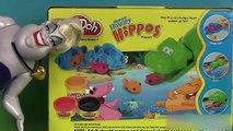 Play Doh Hungry Hippos Pâte à modeler Hippo Glouton mange Polochon