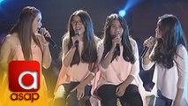 """ASAP: Sunshine Cruz sings """"Hulog Ng Langit"""" with her Tres Marias"""