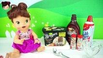 La Muñeca Bebe Lily Toma Helado de Verdad - Bebe Hora de Comer