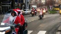 Parade des Motards en père Noël à Liège
