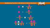 Learn Fractions - Multiplying Fractions with whole and mixed numbers