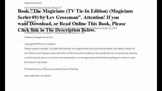 Download The Magicians (TV Tie-In Edition) (Magicians Series #1) ebook PDF