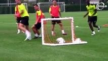 Amazing Football Goals Scored on Training