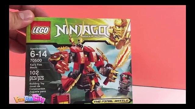 LEGO Ninjago Masters Of Spinjitzu: KAIS Fire Mech 70500 KAI & Scout Mini Figures Toy Unboxing
