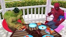 Fat Hulk Fat Spiderman Finger Family Nursery Rhymes   Funny SuperHeroes Food Poisoned Joker Prank
