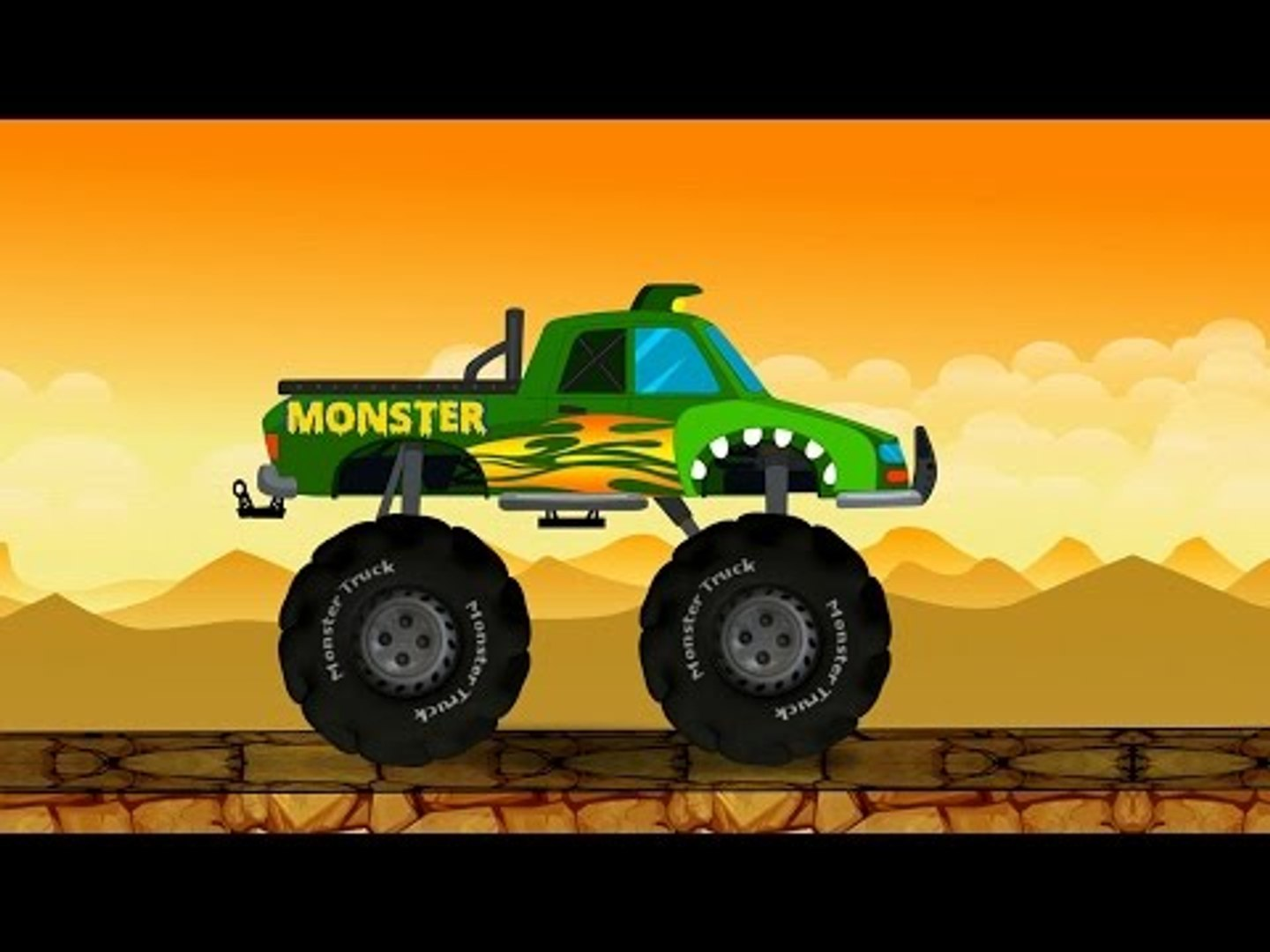 Monster Truck Destroyer Abc Compilation For Kids Learning Video Video Dailymotion