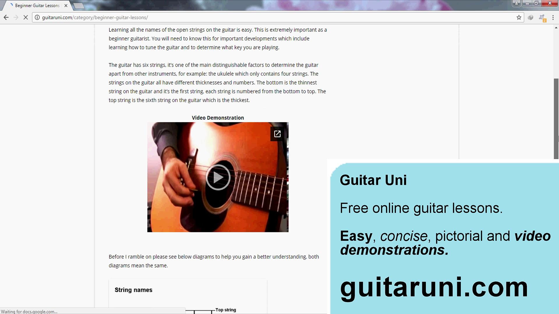 Guitar Uni – Free Online Guitar Lessons