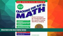 Buy  Cracking the SAT II: Math Subject Tests, 1998 ED (Cracking the Sat Math Subject Test) John