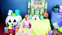 Halloween 50 Surprise Eggs Shopkins The Trash Pack Sqwishland Disney Eggs Play Doh Eggs
