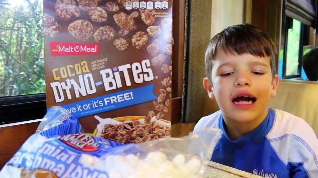 FOOD PRANK! FUNNY CANDY Marshmallow Cereal PRANK April Fools Day Joke Ideas Family Fun