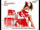 Le calendrier sexy féminin avec votre visage, bonne année humour, carte virtuelle