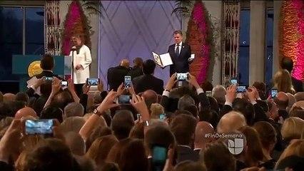 Así fue como Juan Manuel Santos recibió el premio Nobel de la Paz