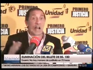 """José Guerra: """"No hay manera de sustituir los billetes en 72 horas"""""""