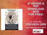 Paradoxe der Stoiker (Vollständige deutsche Ausgabe) Philosophie, Ethik und Selbstdisziplin der Stoiker