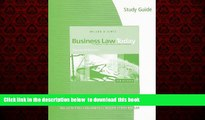 Audiobook Study Guide for Miller/Jentz s Business Law Today, Standard Edition Roger LeRoy Miller