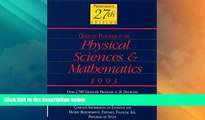 Best Price Peterson s Guide to Graduate Programs in the Physical Sciences and Mathmatics 1993