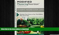 READ Modified MasteringNutrition with MyDietAnalysis with Pearson eText -- Standalone Access Card
