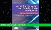 Hardcover Adult-Gerontology and Family Nurse Practitioner Certification Examination: Review
