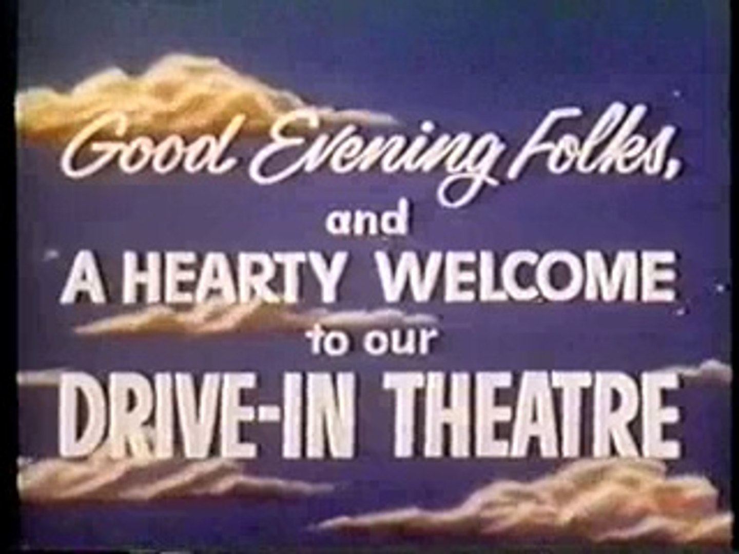 Drive In Theater Intermission 1960s Video Dailymotion