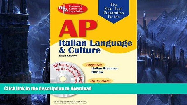Read Book AP Italian Language and Culture w/ Audio CDs (Advanced Placement (AP) Test Preparation)