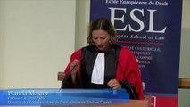 ESL Day 2016 - Rentrée solennelle_04-Wanda Mastor, Directrice de l'Ecole Européenne de Droit, Professeur de droit public de l'Université Toulouse 1 Capitole