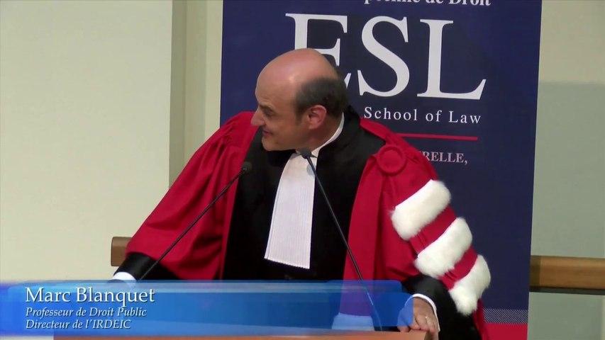 ESL Day 2016 - Rentrée solennelle_03-Marc Blanquet, Titulaire de la chaire Jean Monnet de l'Université Toulouse 1 Capitole