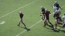Un garçon malade veut marquer un touchdown pour son équipe préférée