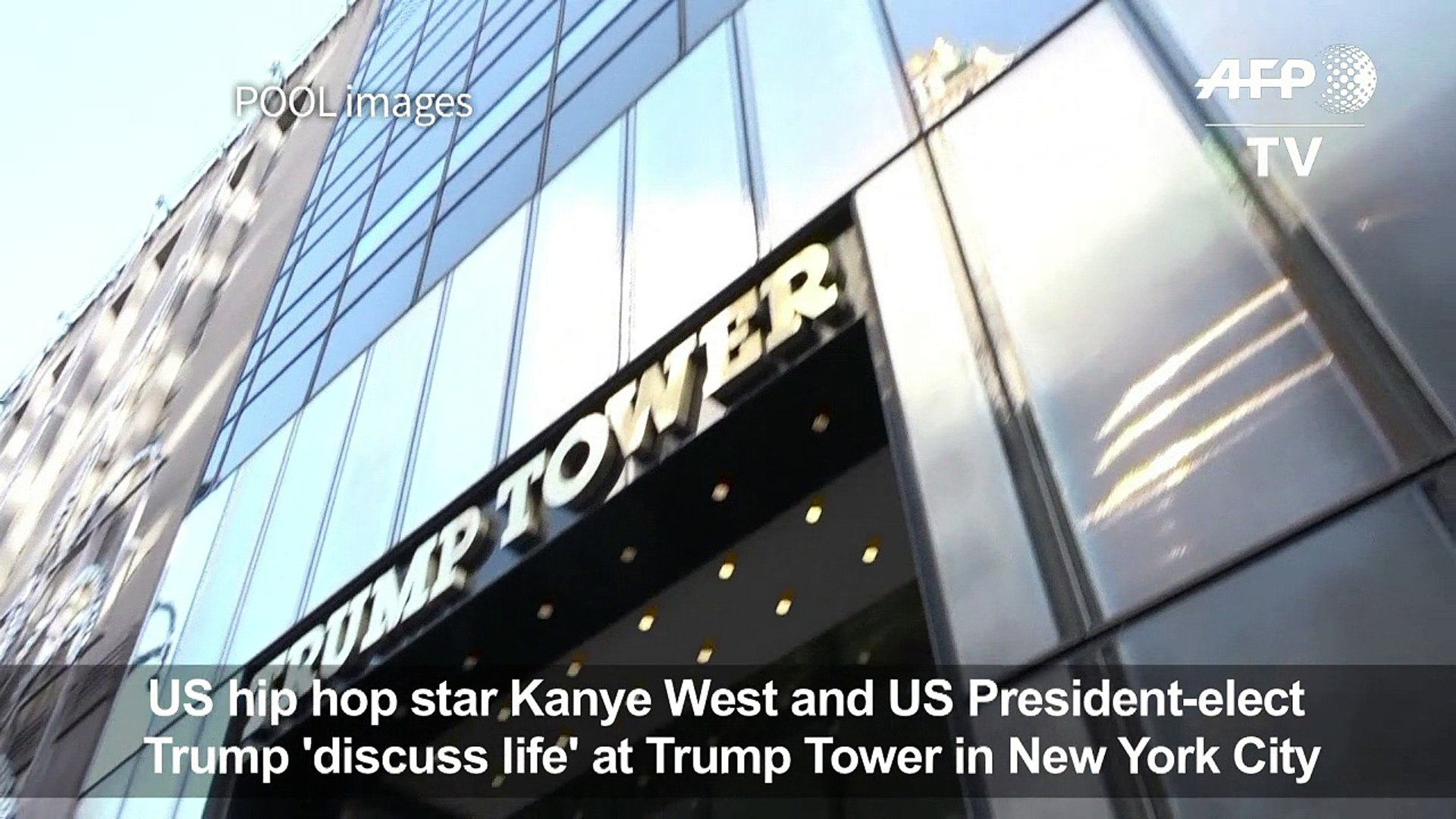Kanye West visits Trump at Trump Tower