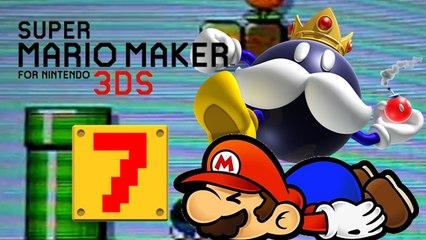Lets Play - Super Mario Maker 3DS ONLINE [07] König Bomb Omb und die Fail Level