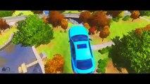 Lamborghini Police Cars & Spiderman Colors Smash Party Superhero Fun Video Nursery Rhymes