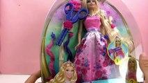 Les cheveux magiques de la Princesse Barbie - Cheveux de Barbie coiffés et coupés avec style
